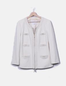 Chaqueta beige detalle tweed Cortefiel ca0b47621c88