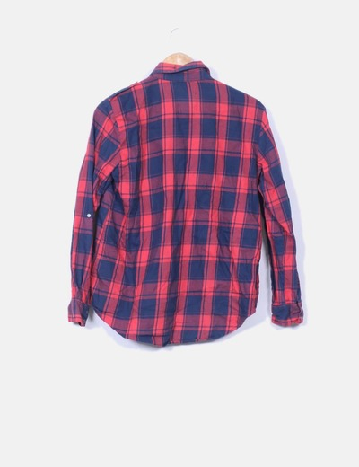 muchos de moda precio más bajo con precio oficial Camisa roja y azul de cuadros
