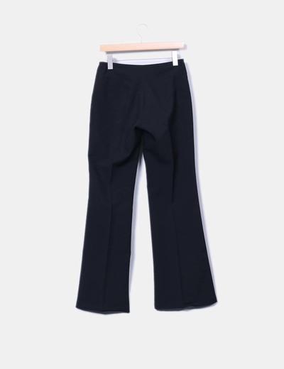 Pantalon fluido de pinzas negro
