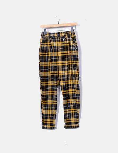 Pantalón de cuadros bicolor