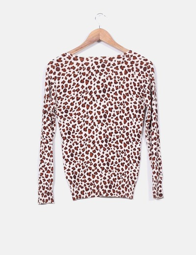 Chaqueta tricot animal print