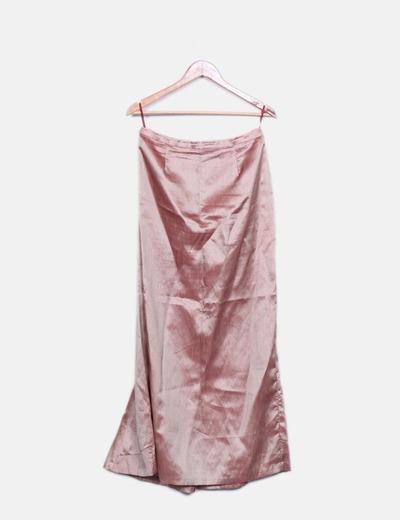 Blusa y falda rosa irisado