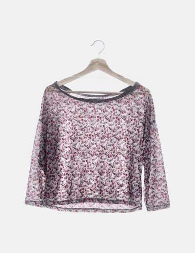Camiseta de gasa floral