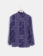 Blusa azul estampado floral NoName