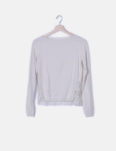 Jersey tricot crudo espalda encaje