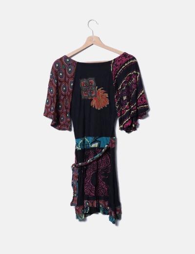 Vestido estampado chino