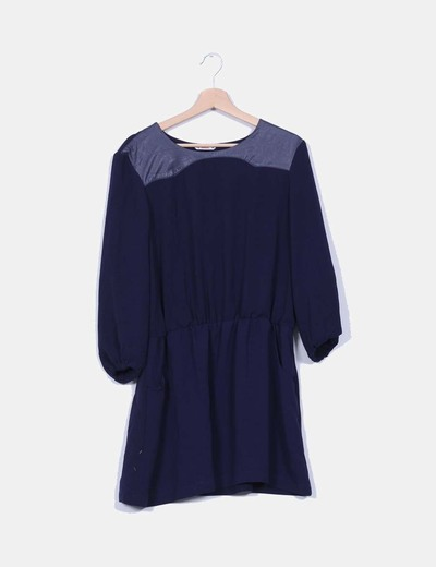Vestido navy Lefties
