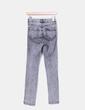 Jeans high waist gris desgastado H&M