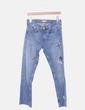 Jeans azules con pedrería Zara