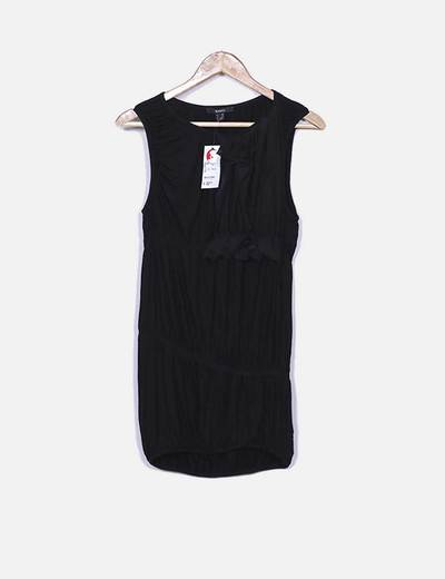 Gaze de vestido preto Suiteblanco