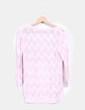 Top en crochet rosa palo Stradivarius