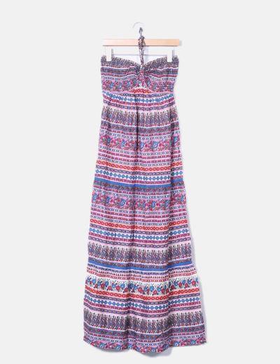 Suiteblanco Maxi mehrfarbiges ethnisches Kleid (Rabatt 74 %) - Micolet 268133aed1