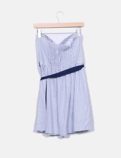 Vestido de rayas con lazo