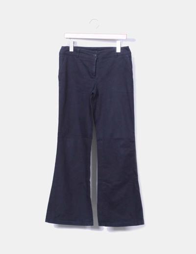 Pantalón de campana azul marino NoName