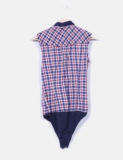 Camisa cuadros con body