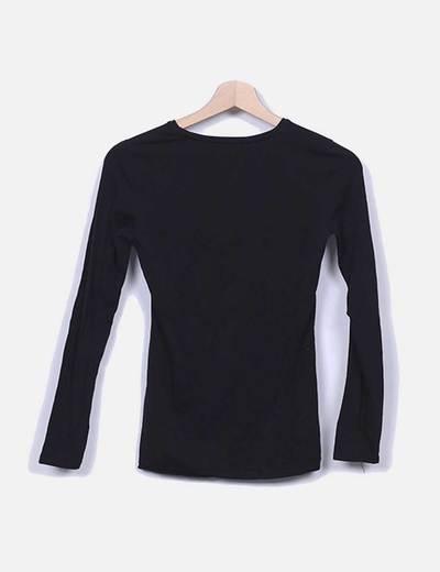 922adb444 Primark Camiseta basica de manga larga negra (descuento 65%) - Micolet