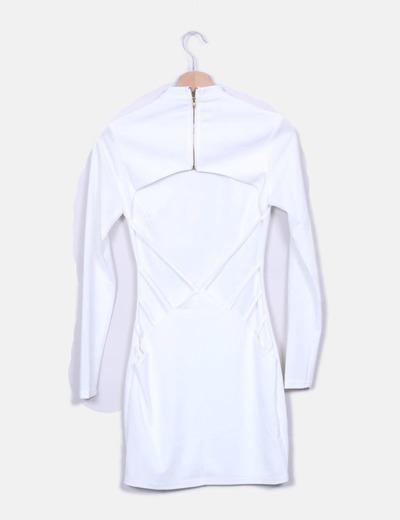 Vestido blanco escote espalda
