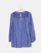 Camisa azul bordada Sense