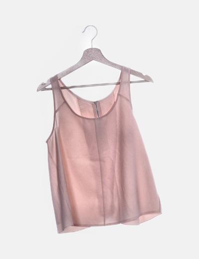 Blusa de tirantes rosa palo