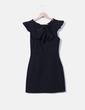 Vestido negro escote espalda Zara