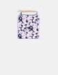Mini falda ajustada print floral Bershka