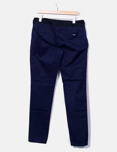 Bershka Pantalón de pinzas azul marino (descuento 76%) - Micolet 91e0d9980f9e