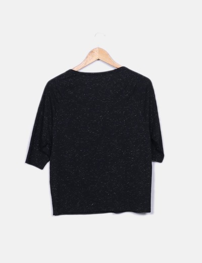 Camiseta negra glitter con tachas