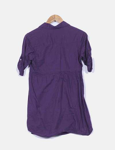 Vestido camisero modafo detalle cintura