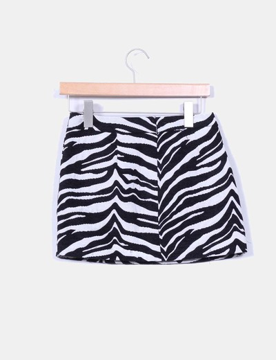Falda print zebra