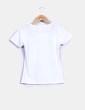 Camiseta blanca manga corta print NoName