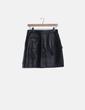 Mini falda cuero negra Sandro Paris