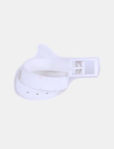 Cinturón blanco de goma NoName