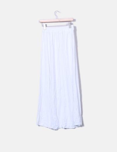 Falda maxi blanca con botones