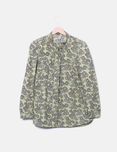 Camisa estampada verde