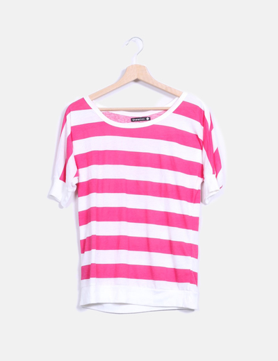 Camsieta a rayas rosa y blanca Shana