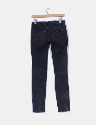 Pantalon negro efecto destenido con brillos