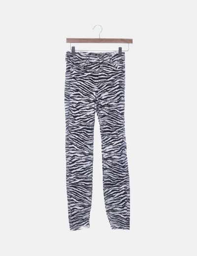 Jeans cebra pitillos