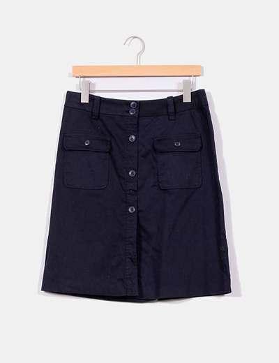 Jupe bleu marine à poches Sfera