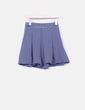 Falda midi azul de rayas Lefties