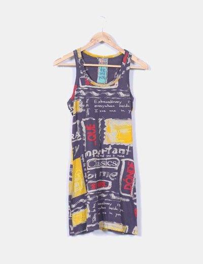 Vestido mini print Desigual
