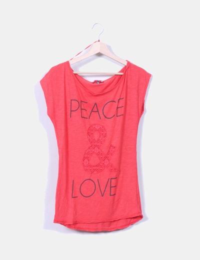 """Top """" Peace&Love"""" Bershka"""