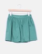 Mini falda verde con vuelo Zara