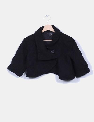 Torera negra de paño Zara
