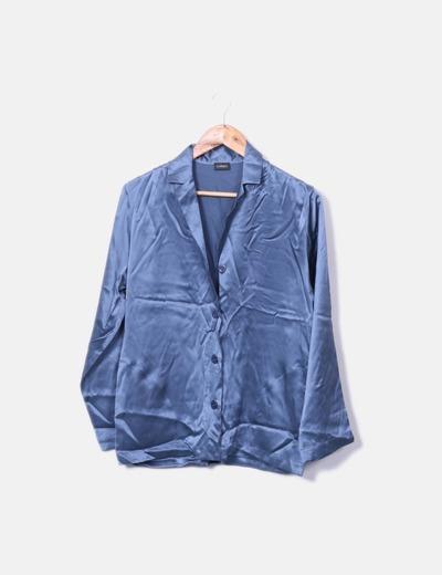 Conjunto pijama seda azul
