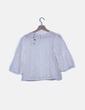 Blusa guipur blanca Zara