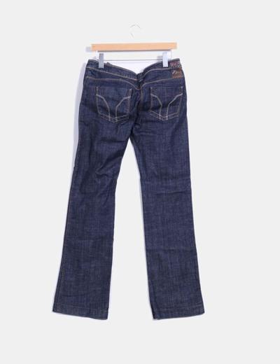 Jeans vaquero recto azul oscuro