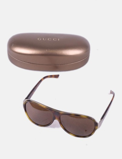 f76615cc85126 Gucci Óculos de sol com estampas de animais (desconto de 82%) - Micolet