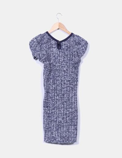 Vestido tricot jaspeado