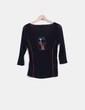 Camiseta negra print chicas semitransparente  M de Miguel