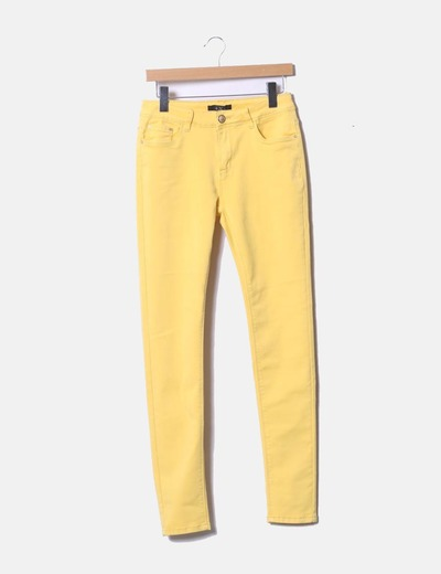Skinny yellow trousers 4X4